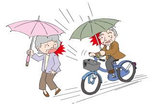 自転車の傘さし運転の罰則!危険性は知らないでは済まされない